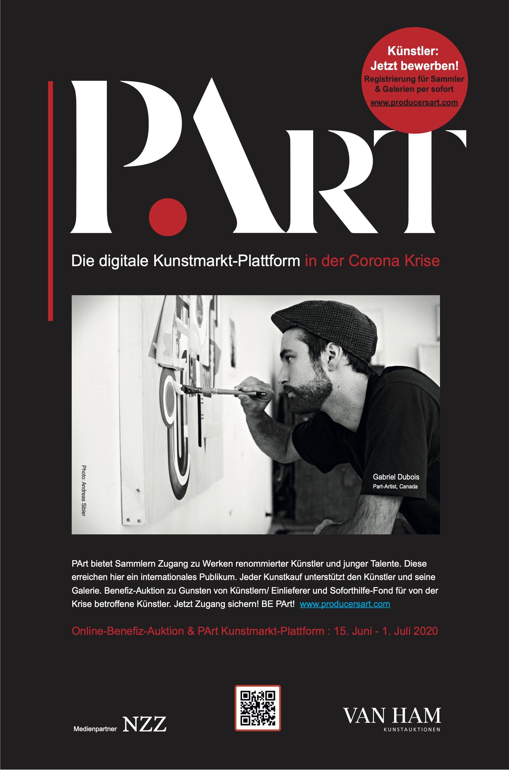 PArt – Mit Kunst Künstlern helfen